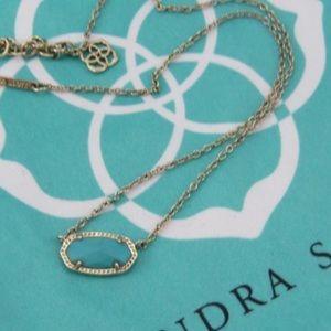 Kendra Scott Elisa Necklace Turquoise Pendant